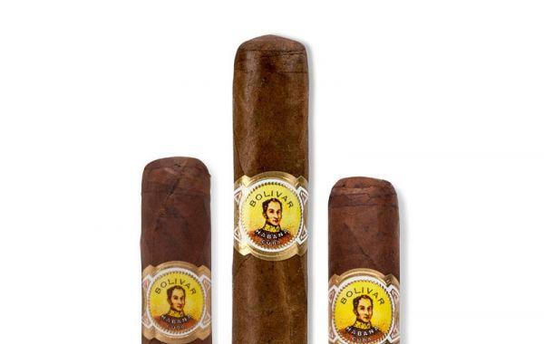 8 sticks each of Bolivar Coronas Junior, Petit Coronas, Royal Coronas