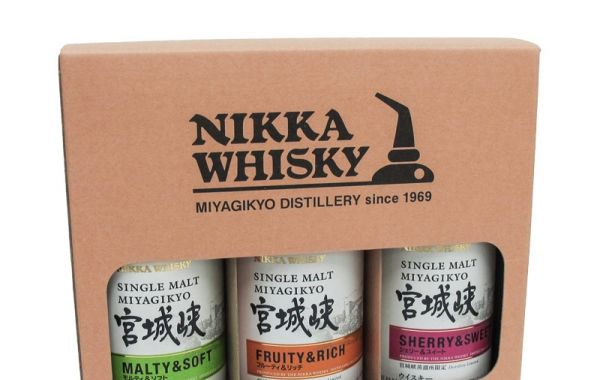 Nikka Miyagikyo Single Malt Set (3 Bottles) 180ml - Holiday Special
